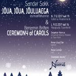 Segakoor Noorus jõulukontserdid Tallinnas ja Haapsalus