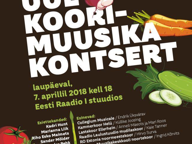 Eesti uue koorimuusika kontserdil kõlab 8 esiettekannet